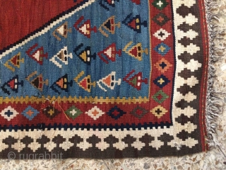Bidjar kilim,Size:150 x 119 cm,two tiny holes need repaired.but good texture.