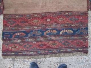 NW persia mafrash based on wool foundation,Size:100x54 cm