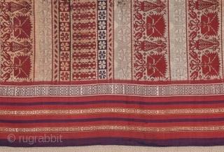Tunisian Silk Veil circa 1850 size 64x235 cm ,, Christopher Spring & Julie Hudson, North African Textiles, Ed. British Museum Press, London, 1995