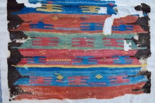18th Century Cappadocia Kilim Fragment size 93x117 cm