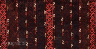 Unusual Beluch Rug circa 1880 size 110x112 cm