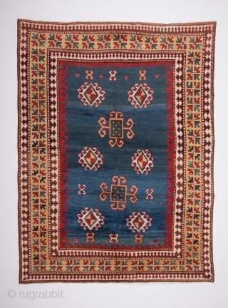 an Unusual Caucasian Karatchopf Rug circa 1870 size 152x202 cm