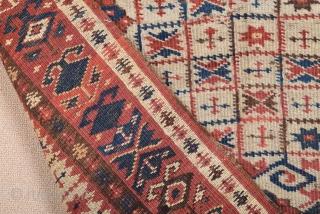 Mid 19th Century Small Beshir Prayer Rug size 90x130 cm