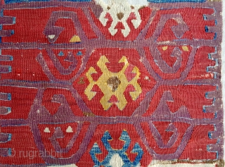 18 th Century Central Anatolian Cappadocia  Kilim Fragment size 82x171