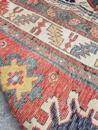 Colorful Kuba Rug circa 1870 size 87x155 cm