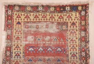 Early 19th Century Central Anatolian Rug size 124x170 cm