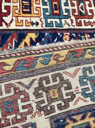 Caucasian Gendje Rug circa 1880 size 115x275 cm