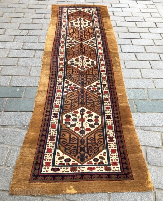 an Early Persian Sarab Rug circa 1850-60's size 94x300 very fine quality, good pile and colorful