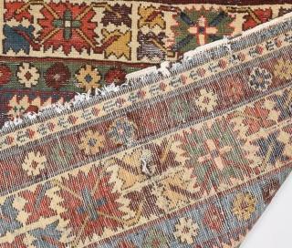 Mid 19th Century Caucasian Lesghi Rug size 95x148 cm