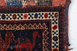 19th Century Very Fine Afshar Bag size 30x34 cm