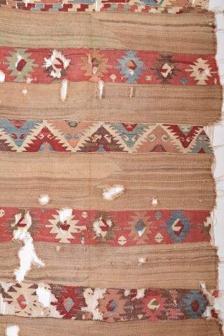 18th Century Central Anatolian Kilim size 136x238 cm