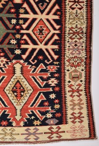 Caucasian Rug circa 1880-90 size 137x295 cm