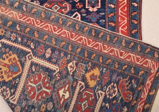19th Century Lovely Shirvan Rug size 125x153