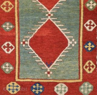 Caucasian Fachralo Rug circa 1870 size 105x134 cm