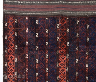 Unusual Beluch Rug circa 1880 size 110x112 cm in good condition
