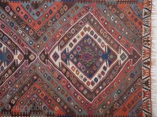Mid 19th Centıury East Anatolian Kilim size 153x341 cm