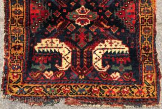 Colorful Persian Bag Face circa 1850 size 52x54 cm