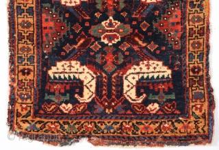Persian Kurdish Bag circa 1870 size 54x54 cm