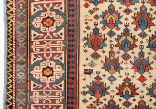 Really Fine Kuba Shirvan Rug dated 1282=1865 size 100x153 cm