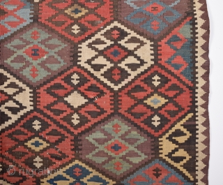 Persian Veramin Kilim circa 1870 size 140x157 cm