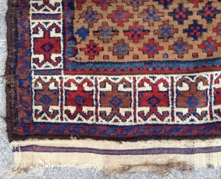 19th Century Camel Field Baluch Rug size 85x155