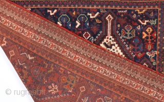 19th Century Khamseh Rug size 117x162 cm