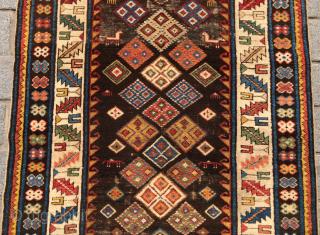 Unusual Shirvan Rug circa 1860 size 104x143 cm