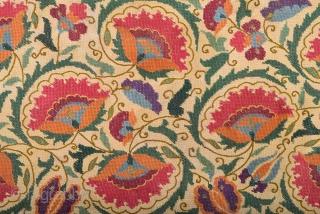 19th Century Ottoman Embroidery size 38x81 cm