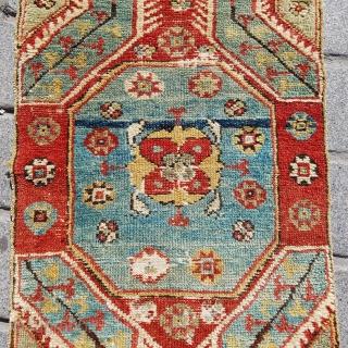 Mid 19th Century West Anatolian Yuntdag Yastik size 50x90 cm