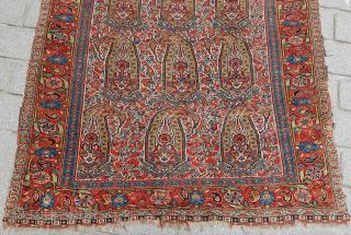 Persian Khamseh Rug circa 1870's size 130x194