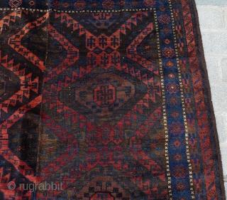Two Halves Baluch Main Carpet circa 1880 size 185x267 cm