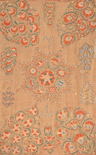 Uzbek Suzani circa 1800 size 180x242 cm Contact for more detail pictures and information