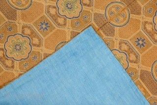 Antique Chinese Silk Brocade size 66x71 cm