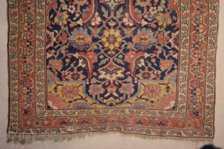 Early 19th Century Persian Kurdish Carpet size 151x325 cm white bottom border has been repaired the rest is in original good condition