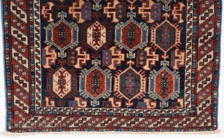 Late 19th Century Afshar Bag Face size 62x68 cm