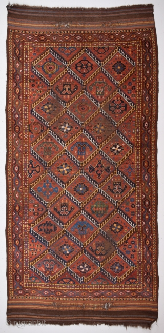 Unusual Ersari Main Carpet circa 1870 size 135x250 cm