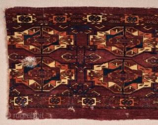 Early 19th Century Tekke Six Gul Torba Fragment size 46x90 cm