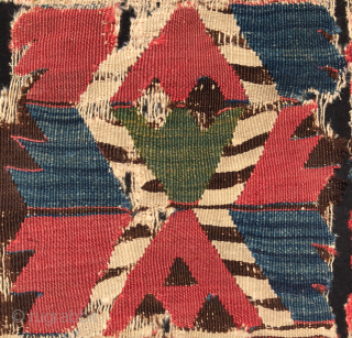 18th Century Central Anatolian Kilim Fragment size 78x109 cm