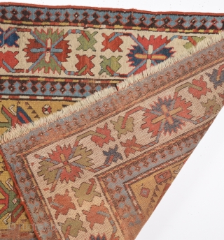 Caucasian Rug c1870's size 111x267 cm as found