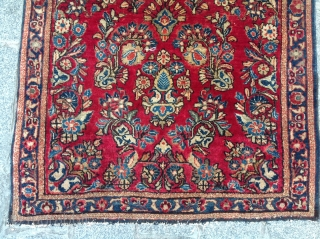 Very Fine Small Sarouk Rug size 76x152 cm full pile