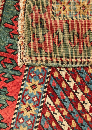 Mid 19th Century Unusually Small Shirvan Rug size 63x108 cm