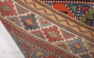 Colorful Moghan Rug circa 1870 size 128x265 cm Perfect condition
