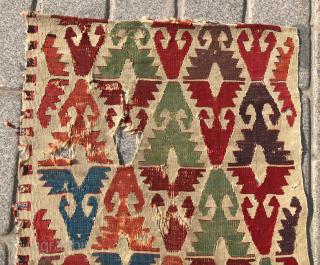 Central Anatolian Kilim Fragment circa 1800 size 63x139 cm