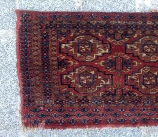 Mid 19th Century Very Fine Tekke Torba size 30x69 cm as found