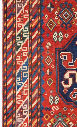 Very Nice Cloudband Kazak Rug dated 1287/1868 size 130x276 cm