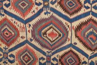 18th Century Central Anatolian Konya Kilim size 140x352 cm Please contact for future images and information