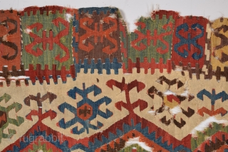 18th Century Colorful Central Anatolian Konya Kilim size 77x316 cm