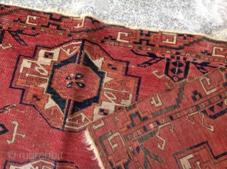 circa 1800 or earlier Tekke six gul torba size 46x113 cm Please contact for future images and information