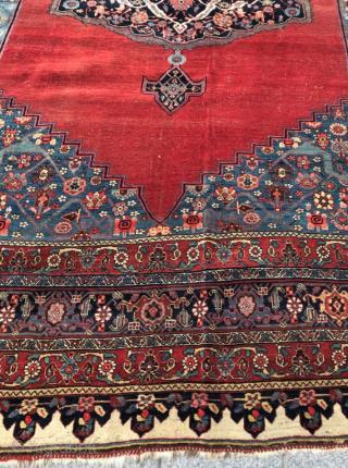Late 19th Century Persian Bidjar Carpet size 290x445 cm wool on wool