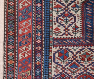Late 19th Century Shirvan Prayer Rug size 113x147 cm